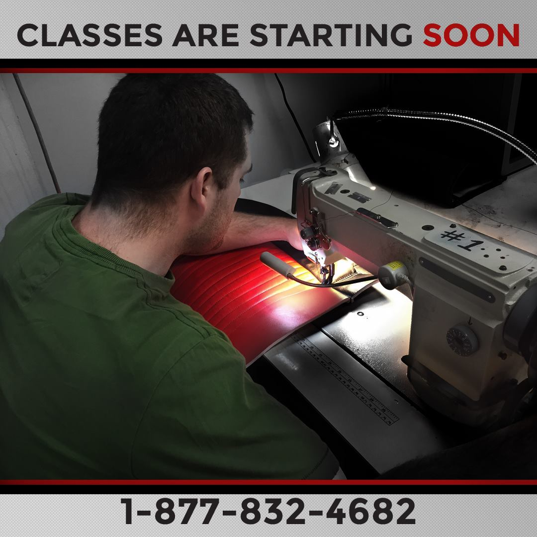 Custom Automotive Upholstery Continuing Ed Course Mobile Tech Training